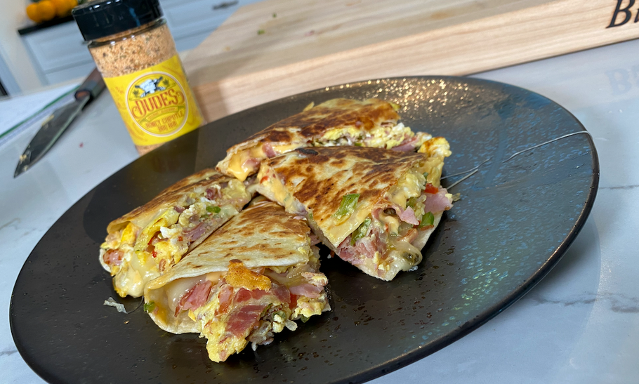 Honey Chipotle Breakfast Quesadilla