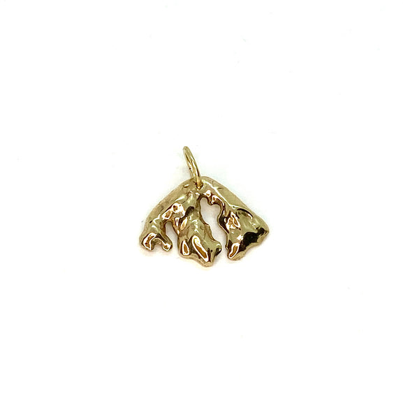 Mini 14k Yellow Gold Orcas Island Pendant
