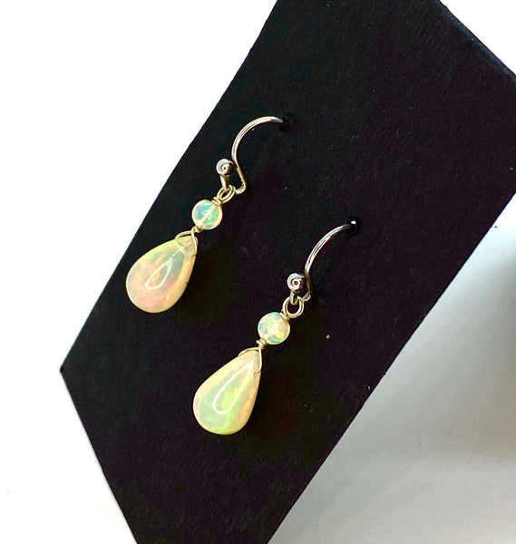 Ethiopian Opal Earrings in Sterling