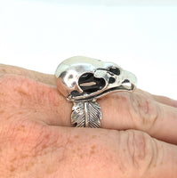 Heavy Statement Vulture Skull Ring