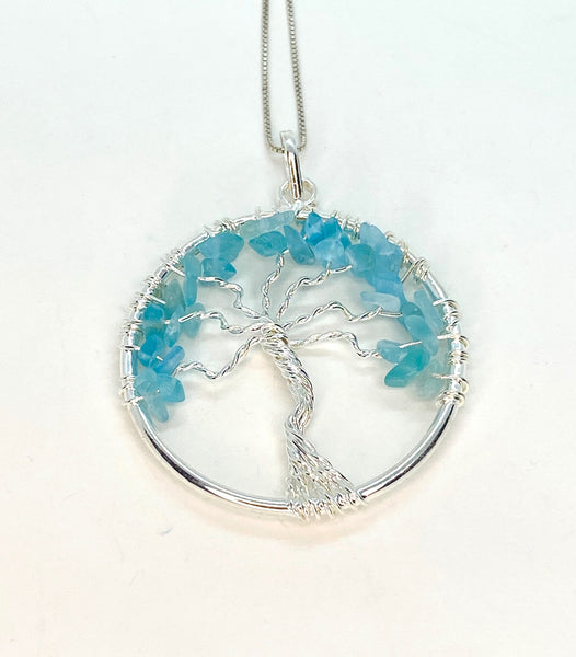 """Tree of Life"" Necklace - Apatite"