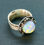 Ethiopian Opal Ring Size 10