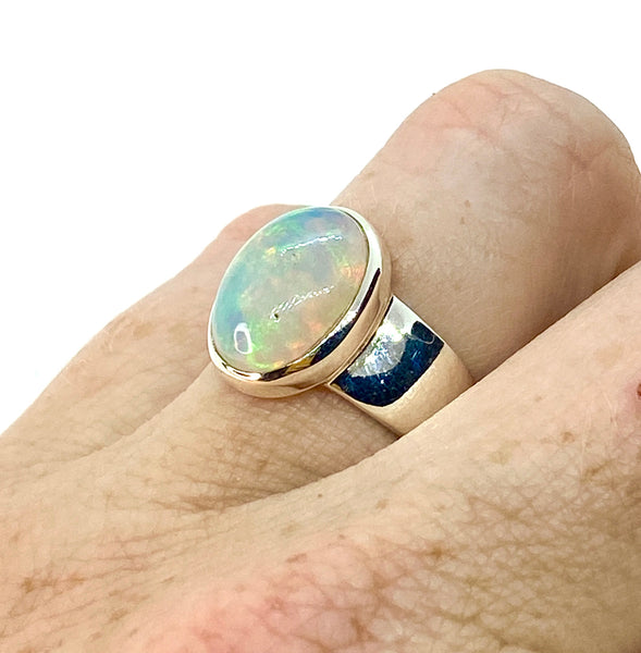 Ethiopian Opal Oval Ring Size 7
