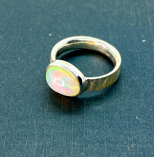 Ethiopian Opal Oval Ring Size 6