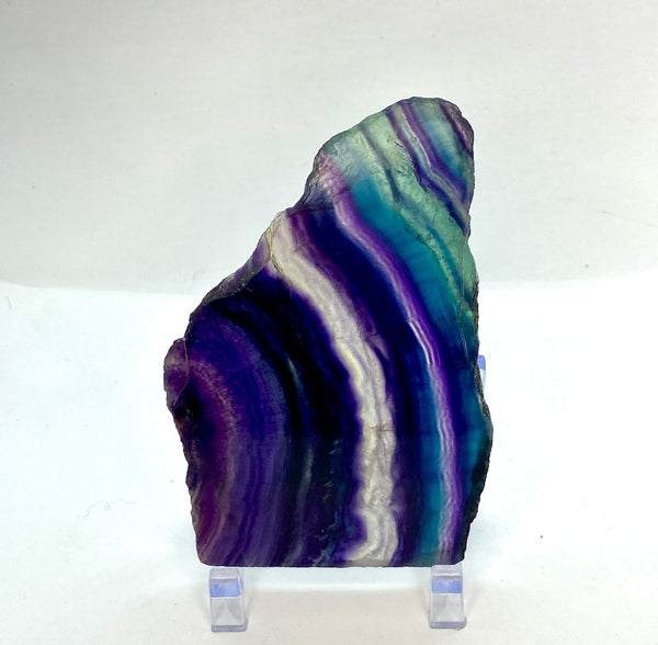 Rainbow Fluorite Display Slice