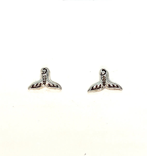 Mermaid Tail Stud Earrings - Sterling Silver
