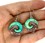 Blue Lab Opal Ocean Swirl Earrings