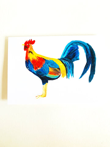 Rooster Notecard