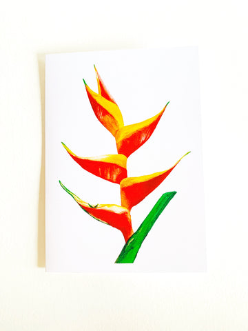 Heliconia Notecard