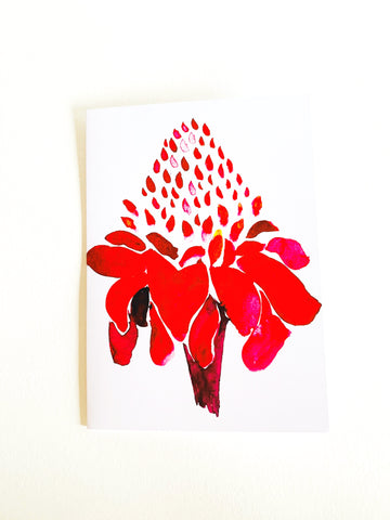 Torch Ginger Notecard