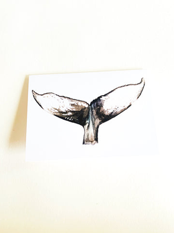 Whale Tail Notecard
