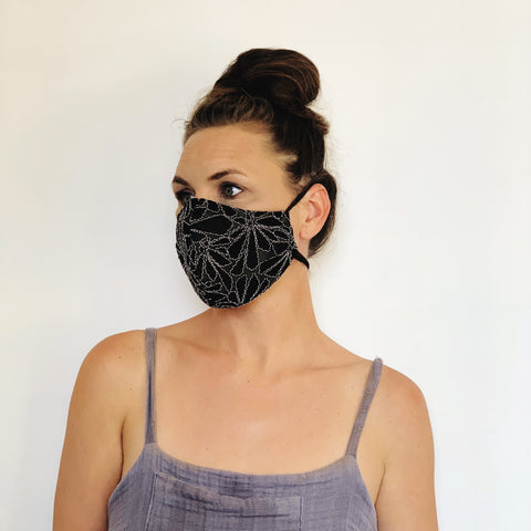Fancy Face Mask- black lace