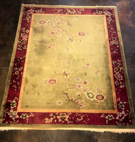 Antique Chinese 8x10 Rug