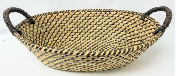 "Seagrass & Straw Basket with Handles 16.5"" x 12"""