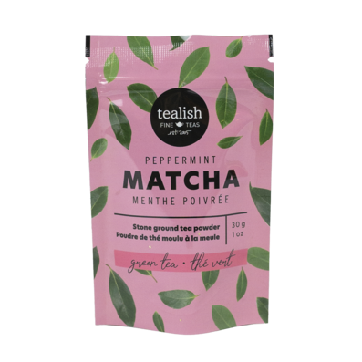 Tealish Peppermint Green Tea Matcha. This blend of stone ground black tea and chai spices, which are known for increasing energy, aiding in digestion and decreasing inflammation, can be used in lattes, smoothies, baking and more. You can find it in our gift baskets or add it to your own custom gift basket you build right on our site!