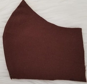 100% Chocolate Brown Fabric