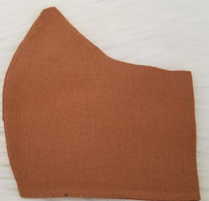 100% Dark Tan Fabric