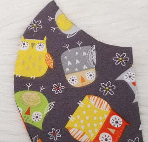 100% Cotton Owl Pattern