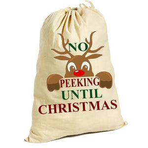 No Peeking Until Christmas Sack