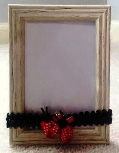 Headband- LadyBugs with Black Sequin Headband