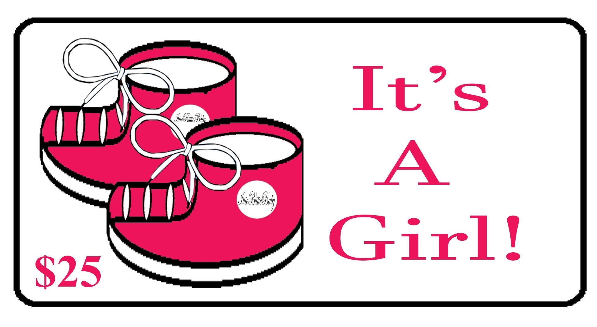 It's A Girl! Gift Certificate