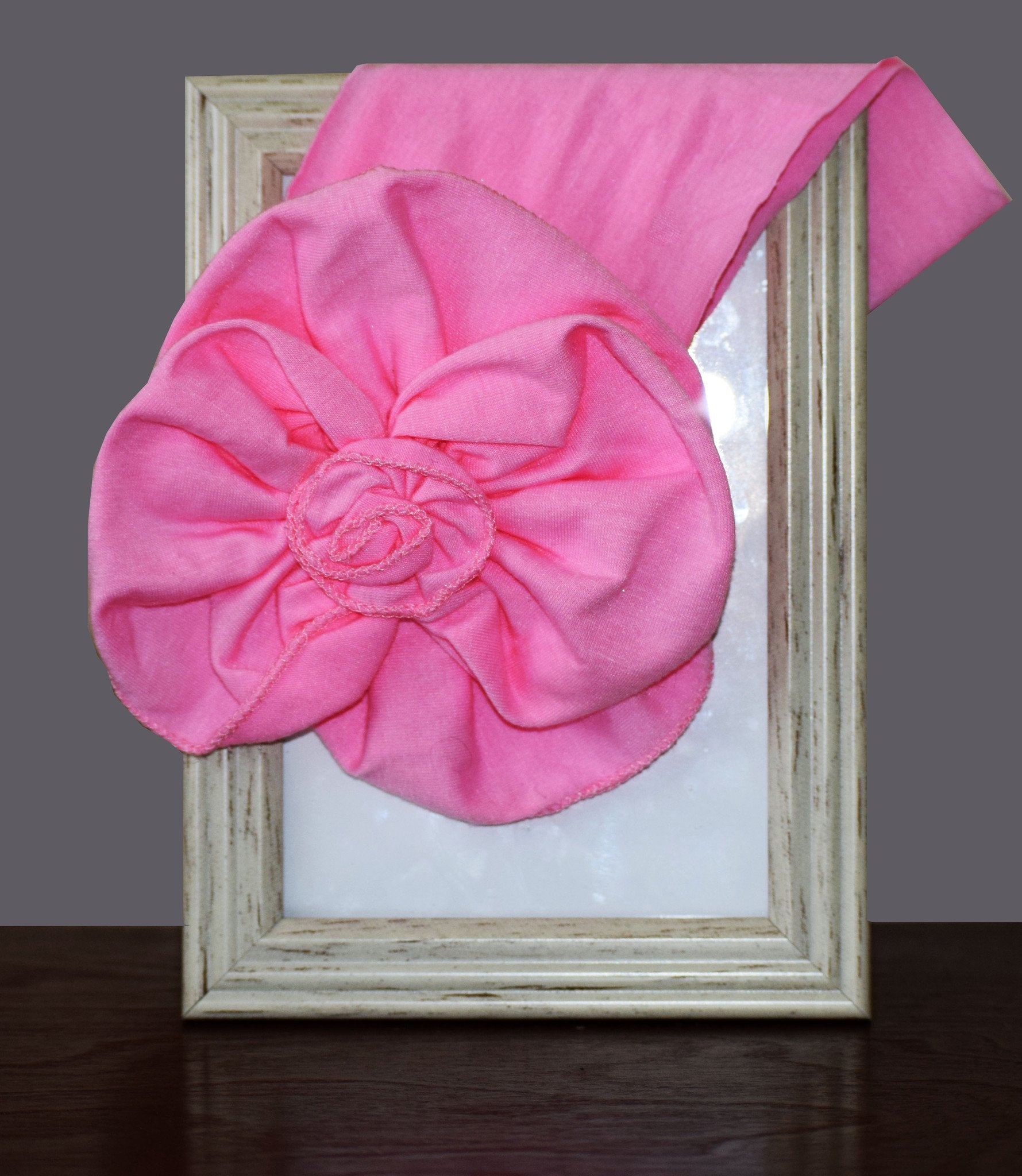 Headband- Pink Flower with Pink Headband