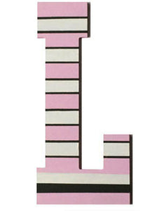 Pink Lady Stripes Letter