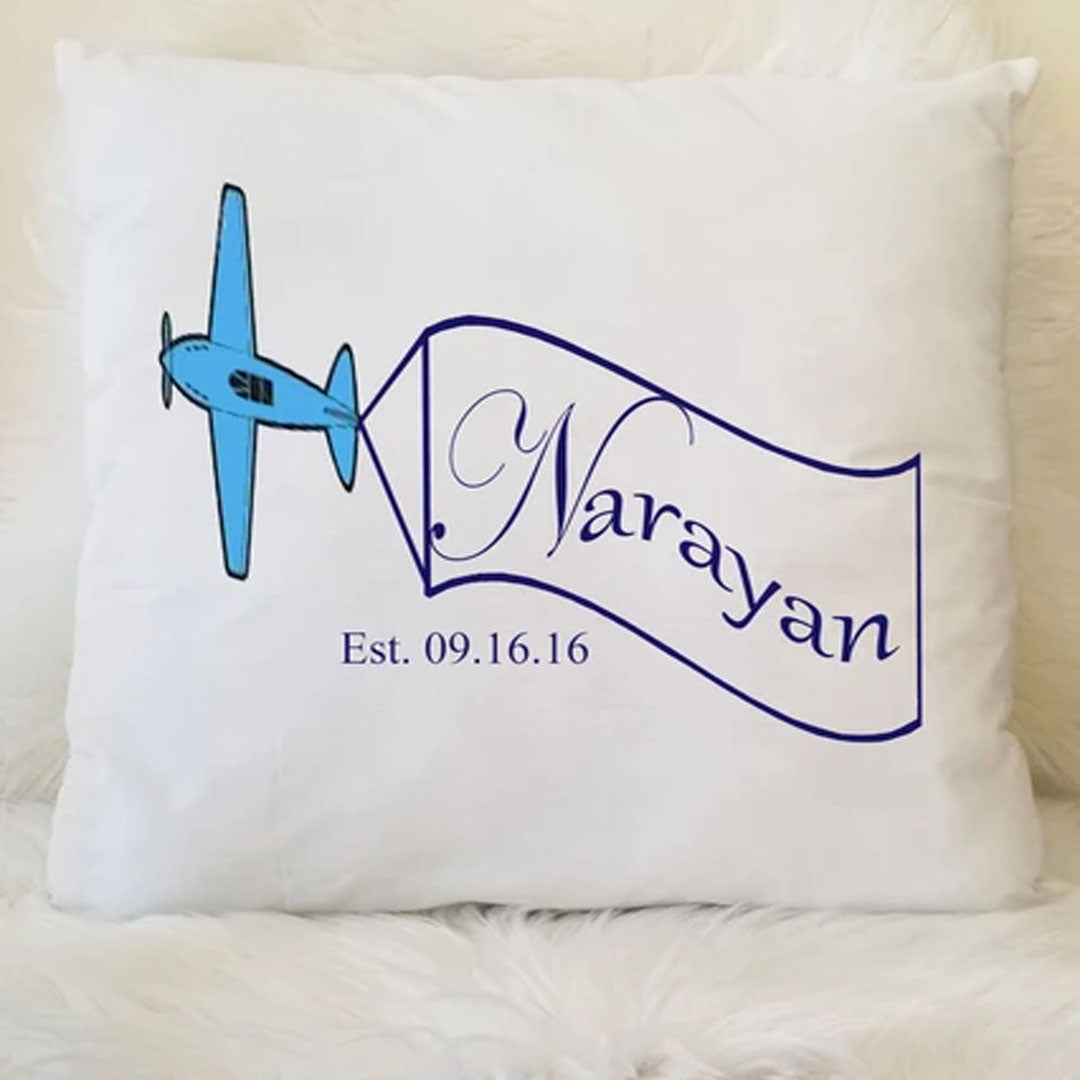 Plane Keepsake Pillow