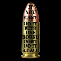 Do It With One Round 9mm Veteran T Shirt
