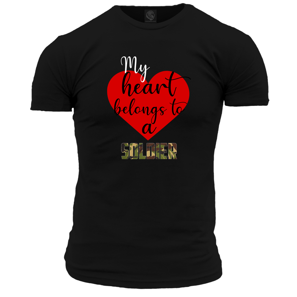 My Heart Belongs To A Soldier T Shirt