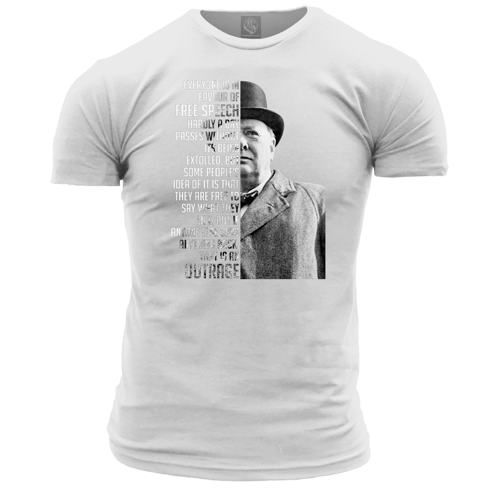 Churchill Quote Free Speech Unisex T Shirt