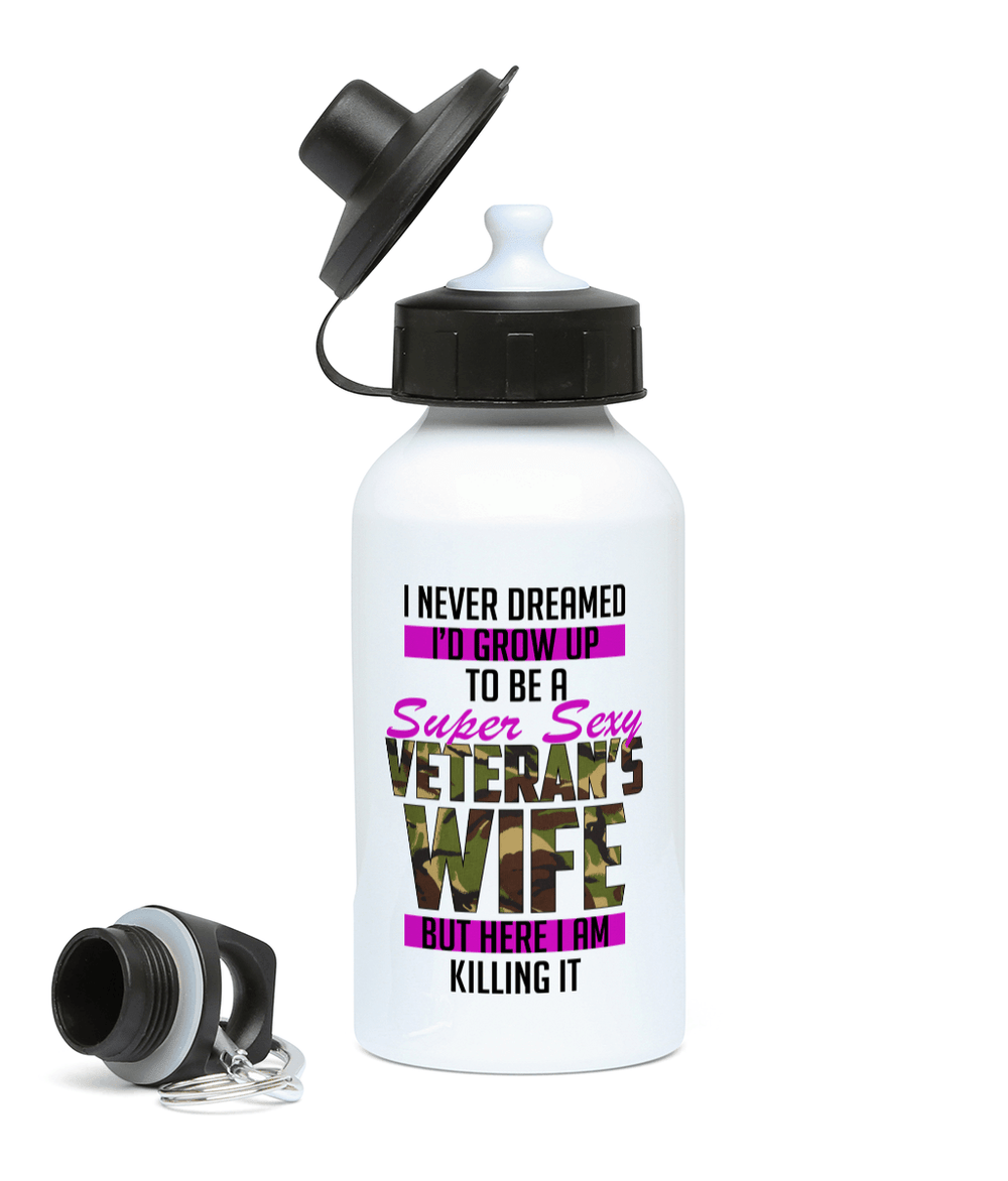 400ml Water Bottle Super Sexy Veteran Wife Drinkware