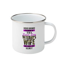Enamel Mug Super Sexy Veteran Wife Drinkware