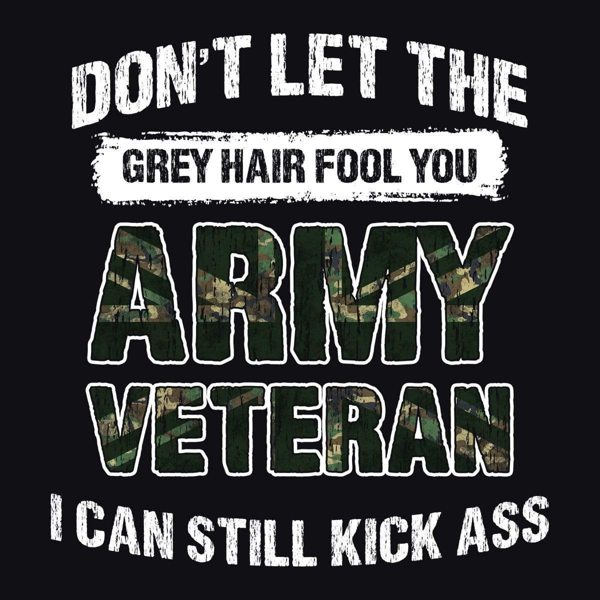 Army Veteran Grey Hair T Shirt