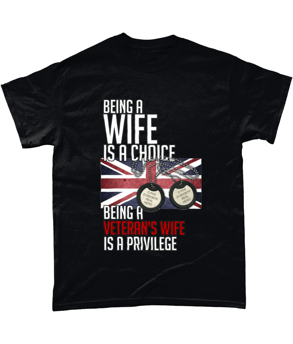 Black / Small Being A Wife Is A Choice T Shirt