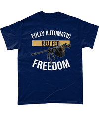 Navy / Small Belt Fed Freedom T Shirt