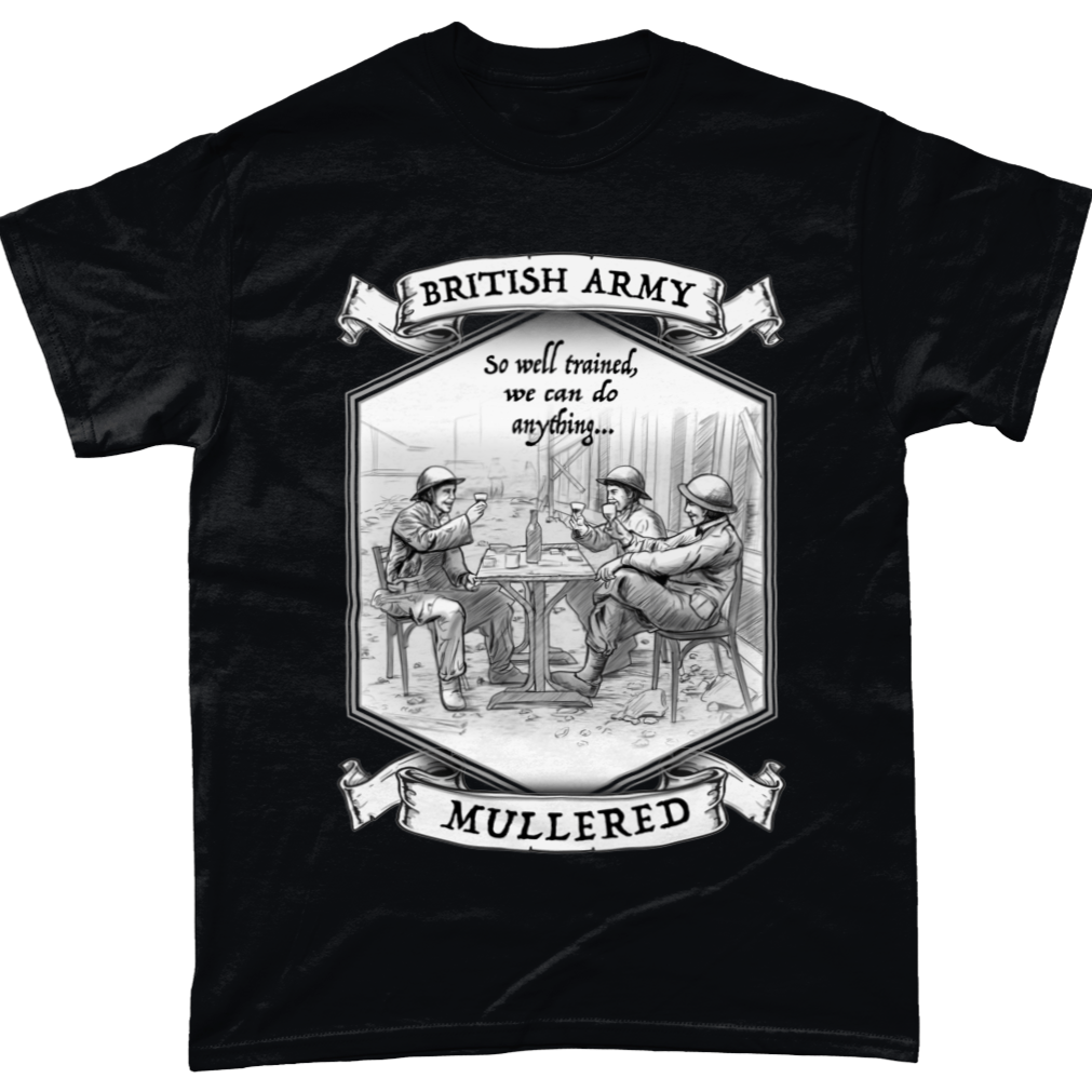 Black / Small British Army So Well Trained T Shirt