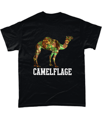 Black / Small Camelflage T Shirt