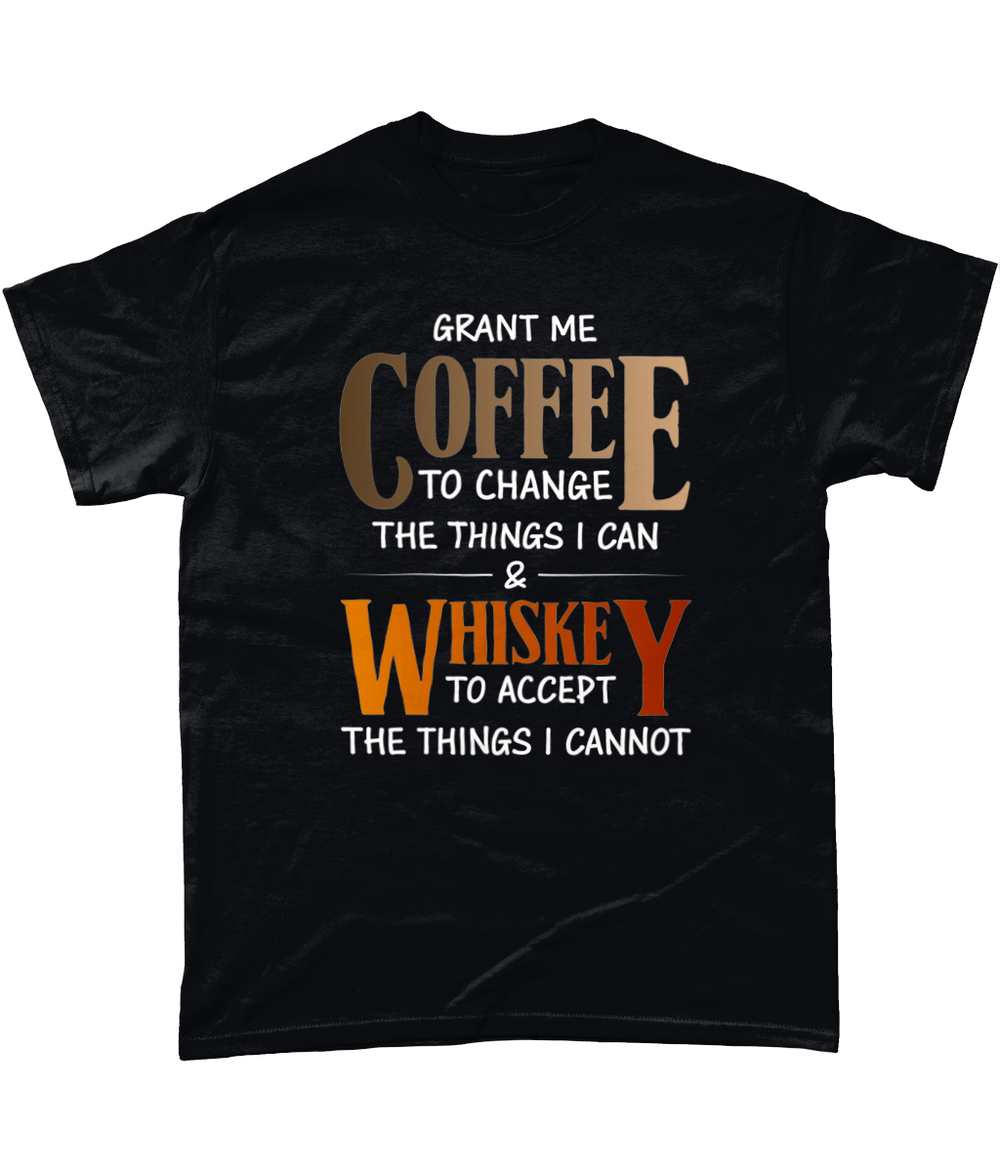 Black / Small Coffee And Whiskey Unisex T Shirt