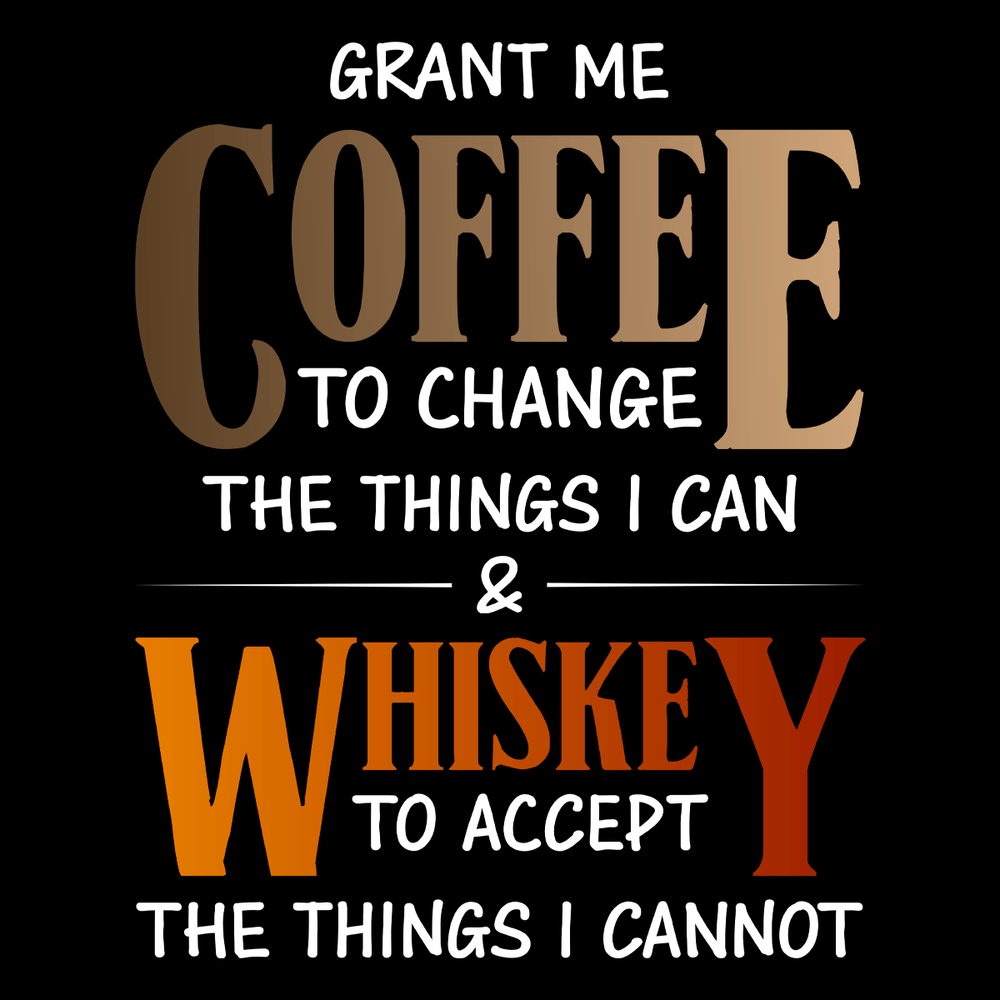 Coffee And Whiskey Unisex T Shirt