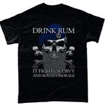 Black / Small Drink Rum T Shirt