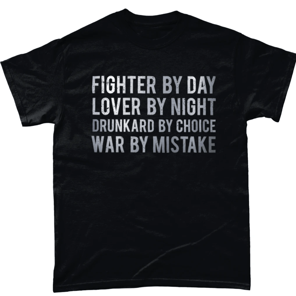 Black / Small Fighter By Day T Shirt