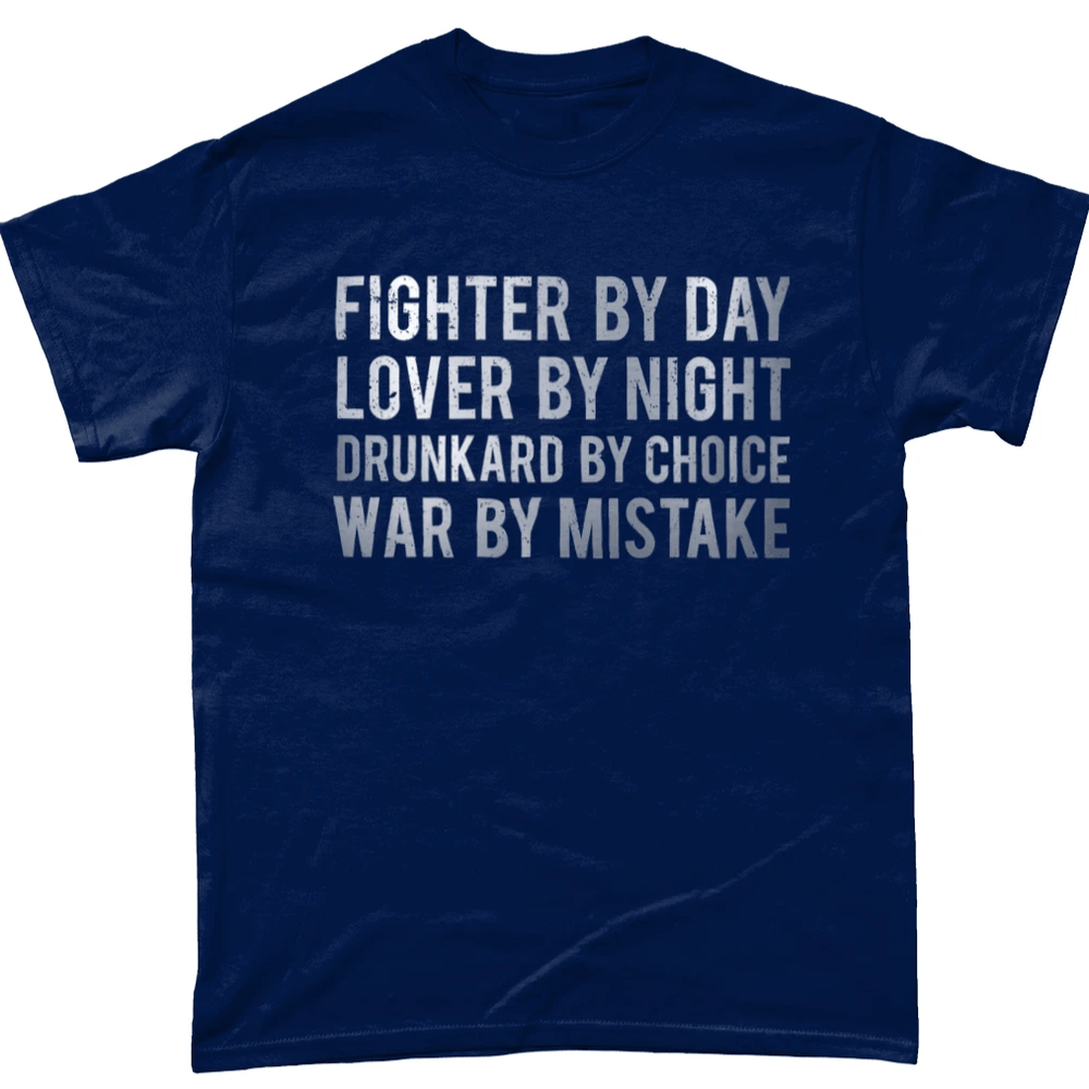 Navy / Small Fighter By Day T Shirt