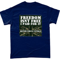 Navy / Small Freedom Isn't Free T Shirt