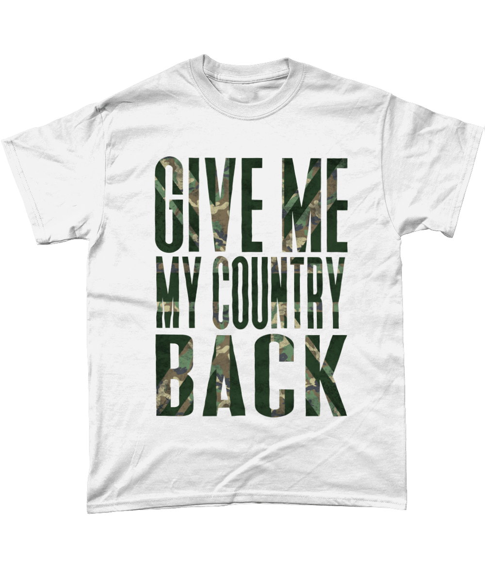 White / Small Give Me My Country Back T Shirt