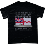 Black / Small God Created Submariners T Shirt