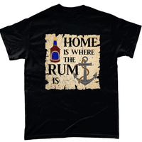 Black / Small Home is Where the Rum is T Shirt
