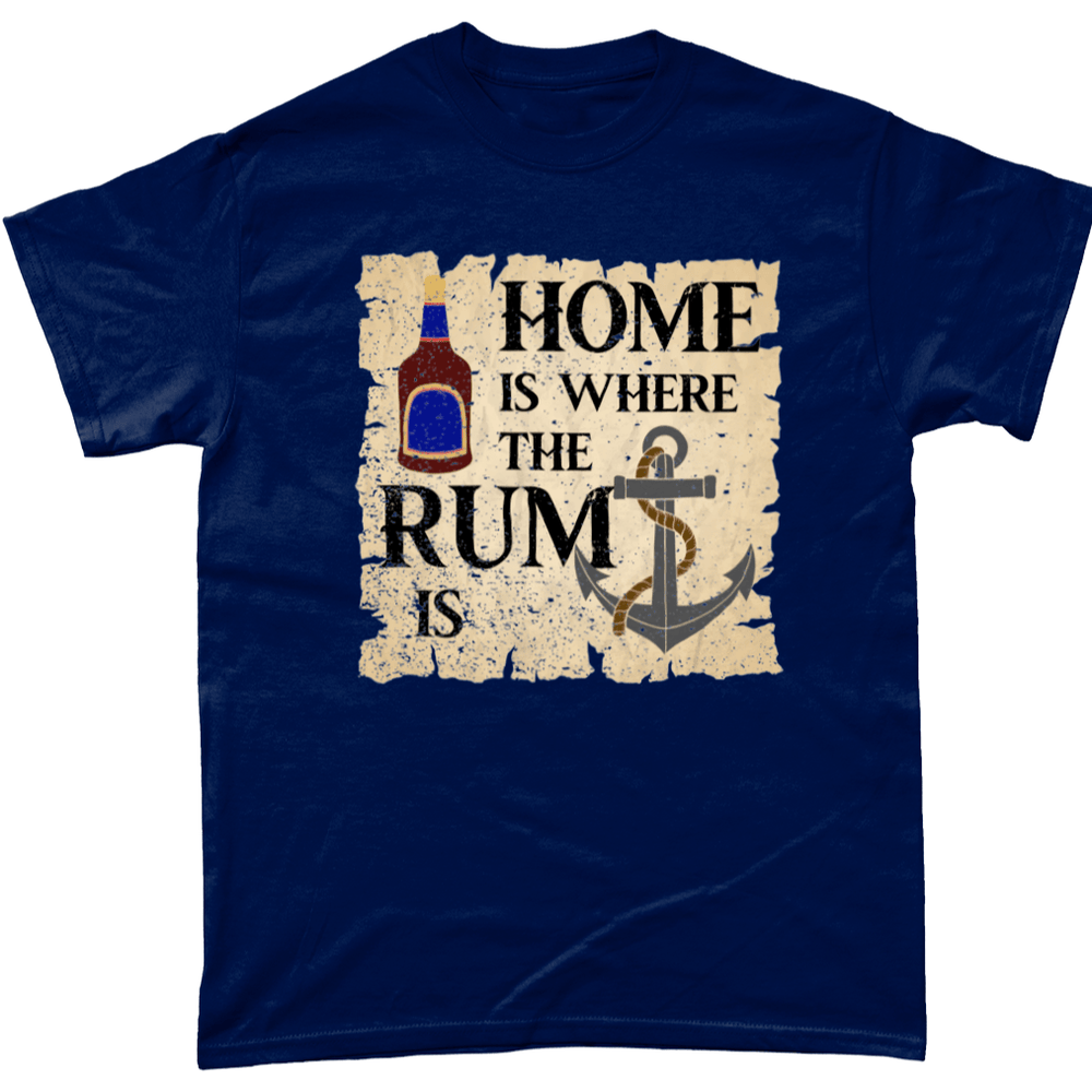 Navy / Small Home is Where the Rum is T Shirt