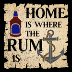 Home is Where the Rum is Unisex T Shirt