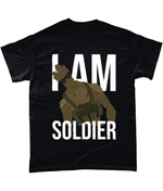 Black / Small I Am Soldier T Shirt